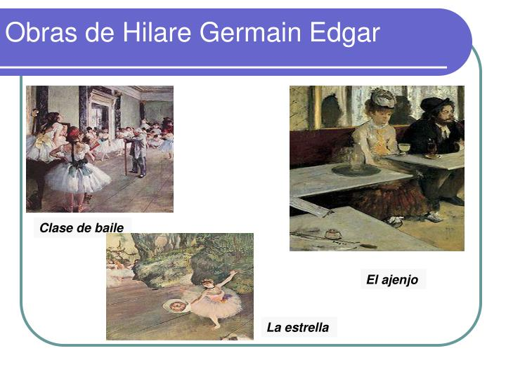 Obras de Hilare Germain Edgar