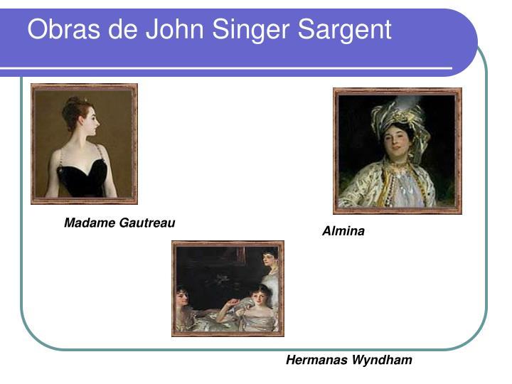 Obras de John Singer Sargent