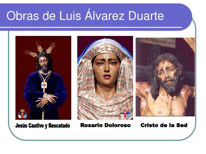Obras de Luis Álvarez Duarte