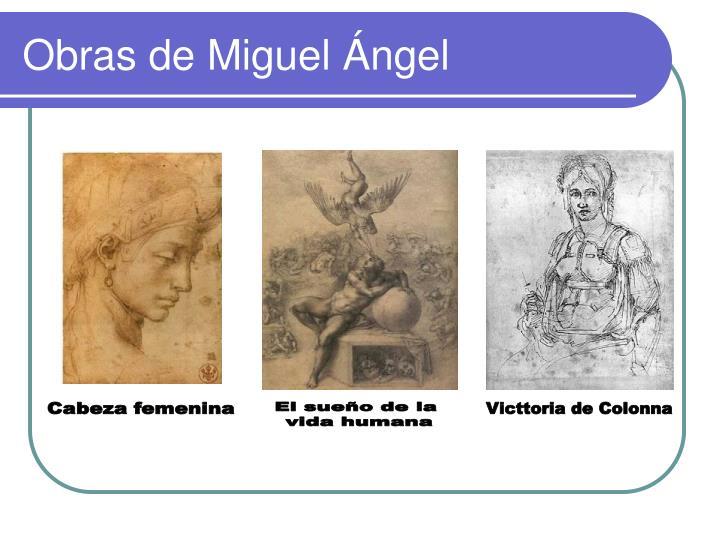 Obras de Miguel Ángel
