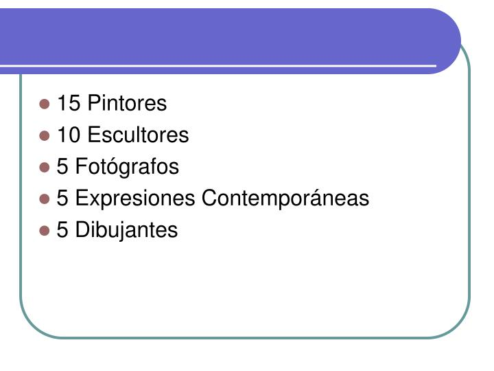 15 Pintores