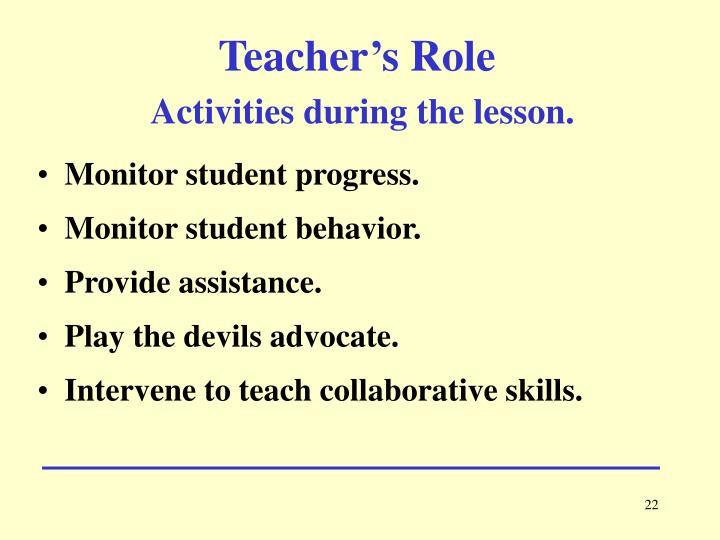Teacher's Role