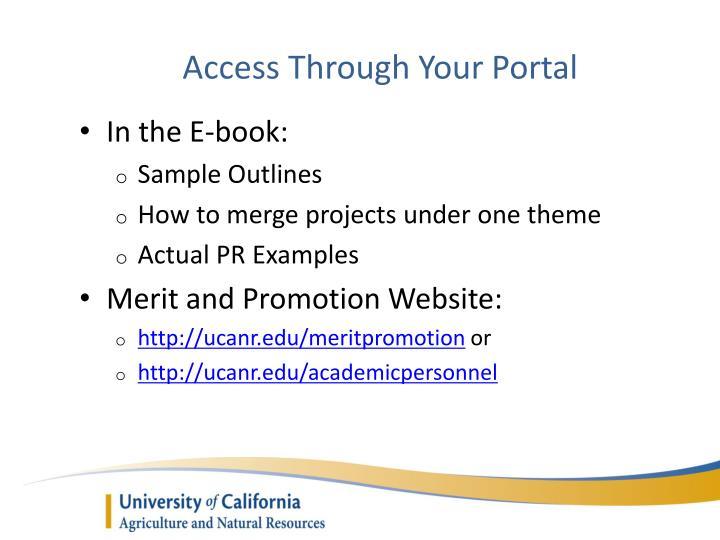 Access Through Your Portal