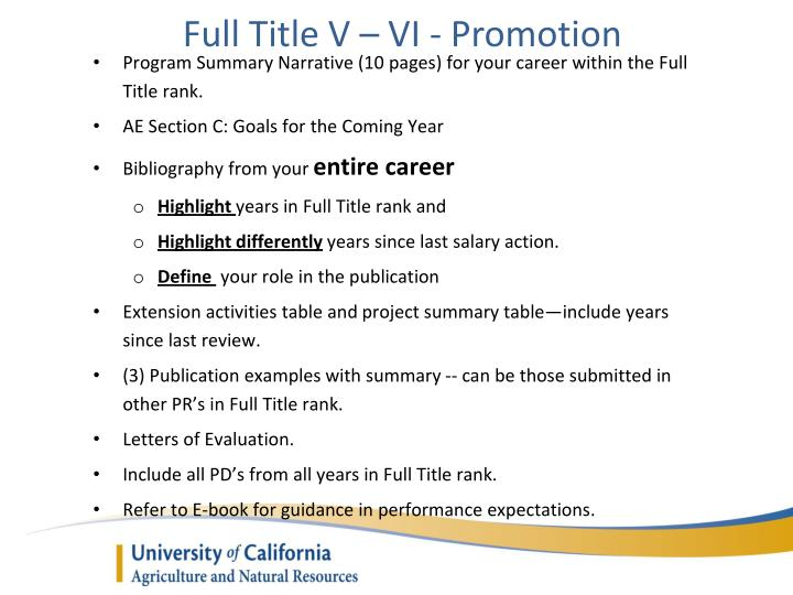 Full Title V – VI - Promotion