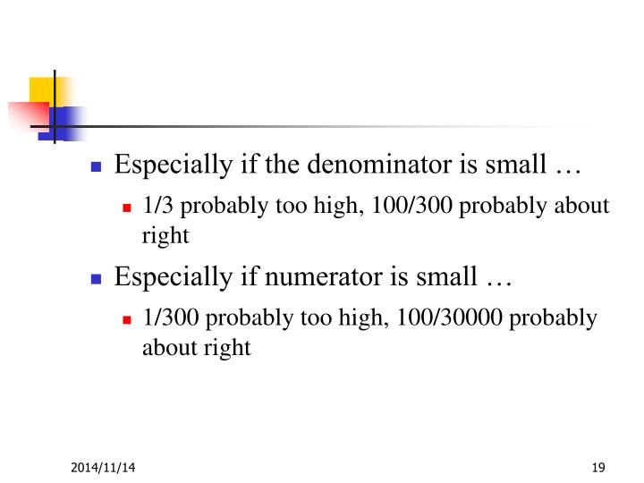 Especially if the denominator is small …