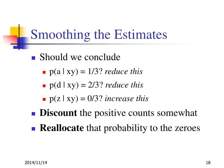 Smoothing the Estimates