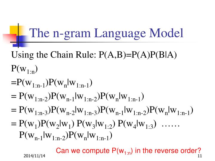 The n-gram Language Model