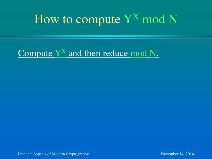 How to compute