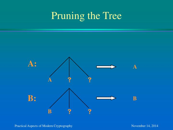 Pruning the Tree