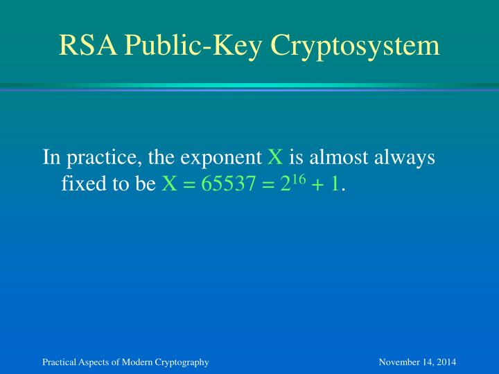 RSA Public-Key Cryptosystem