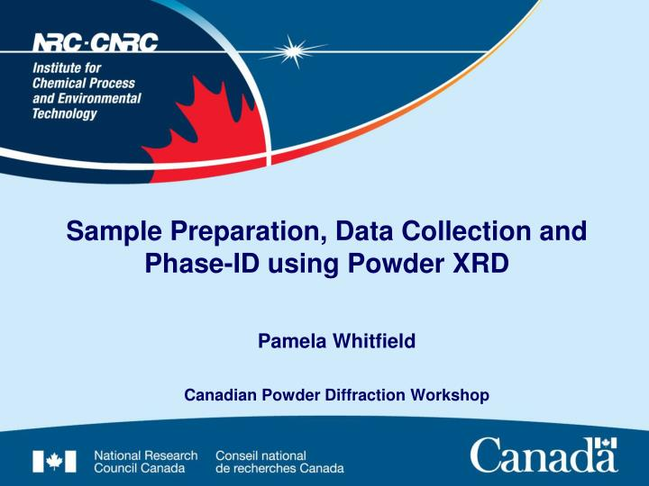 sample preparation data collection and phase id using powder xrd n.