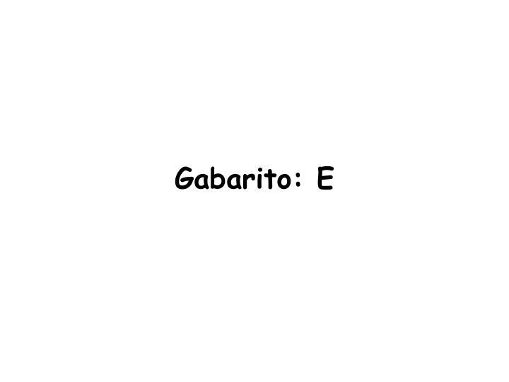Gabarito: