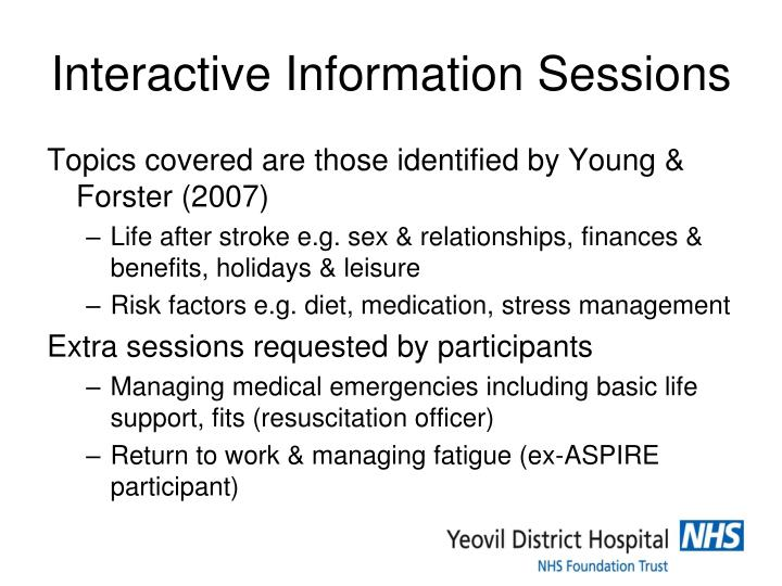 Interactive Information Sessions