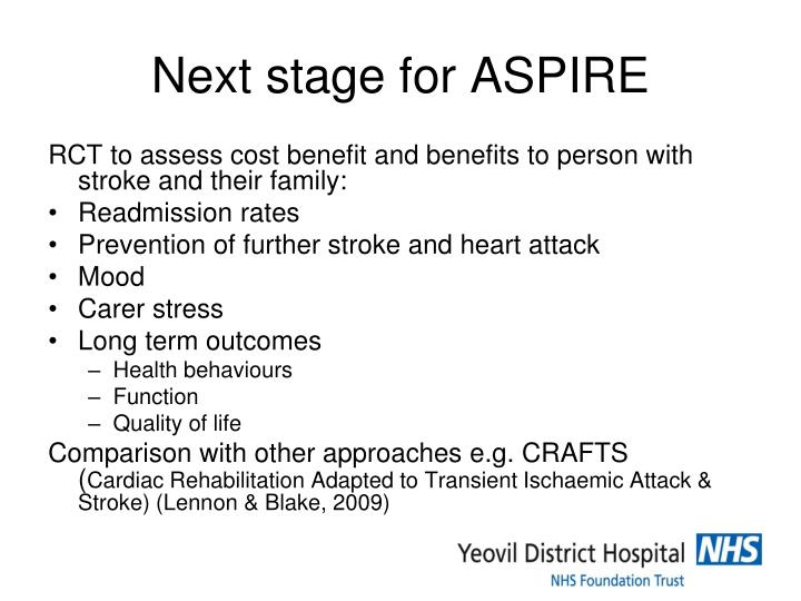 Next stage for ASPIRE