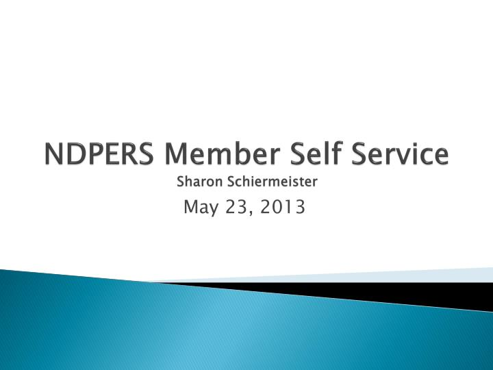 NDPERS Member Self Service