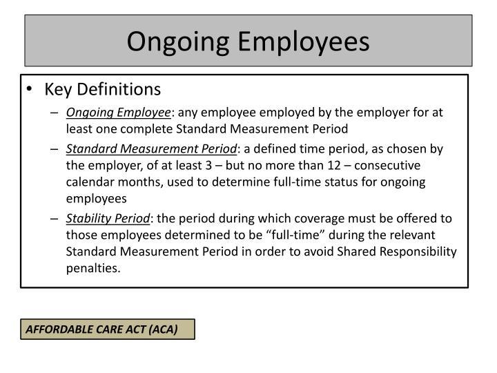 Ongoing Employees