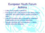 european youth forum actions