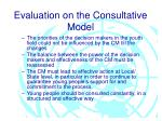 evaluation on the consultative model