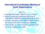 international coordination meeting of youth organisations