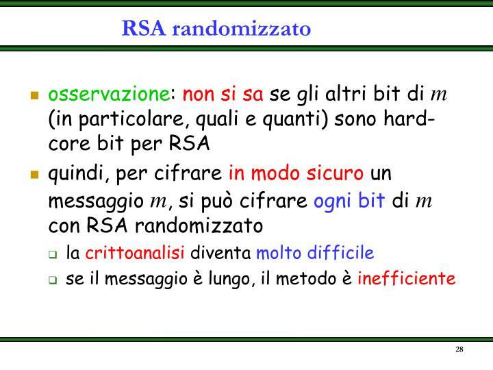 RSA randomizzato
