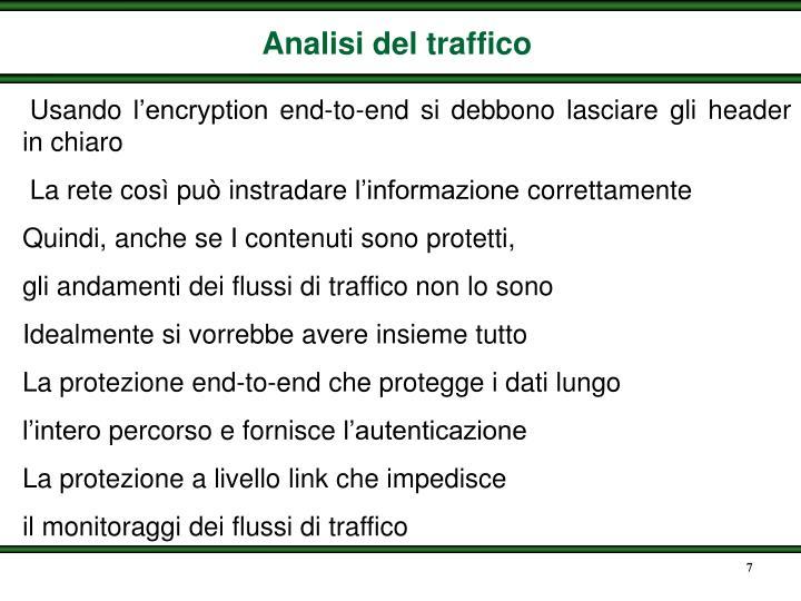 Analisi del traffico