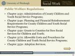 public welfare regulations