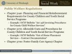 public welfare regulations1