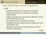 state child welfare related legislation