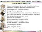 main prerequisites for dog rabies control programmes an integrated approach