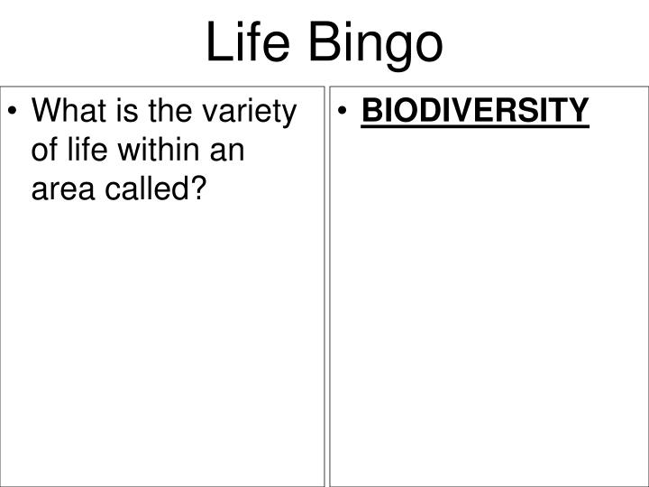 What is the variety of life within an area called?