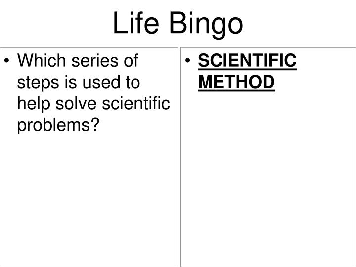 Which series of steps is used to help solve scientific problems?