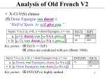 analysis of old french v22