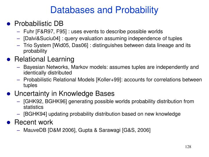 Databases and Probability