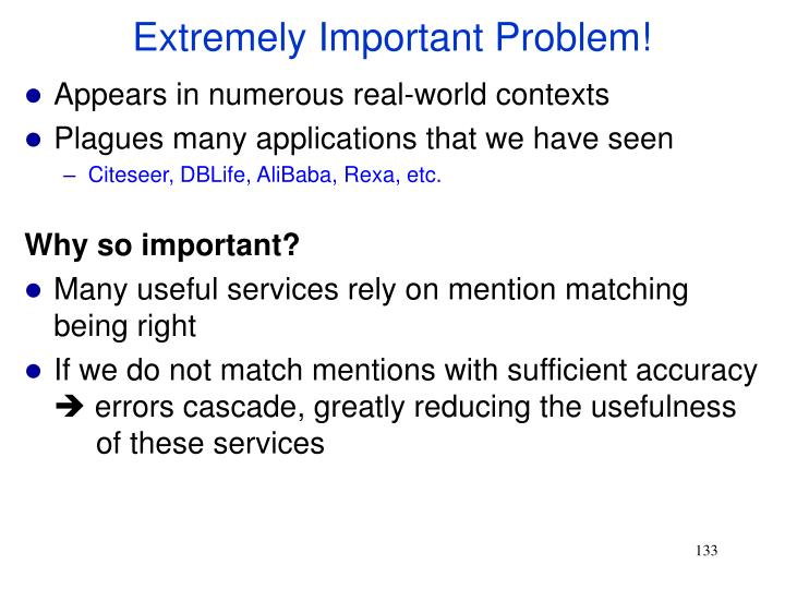 Extremely Important Problem!