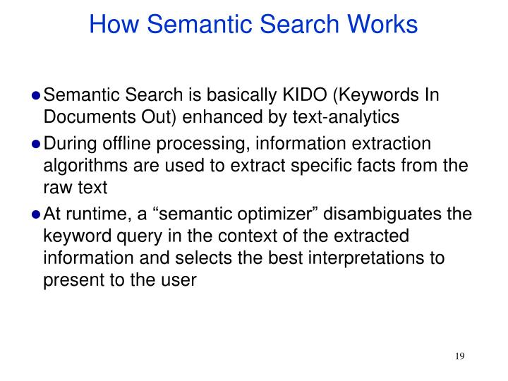 How Semantic Search Works