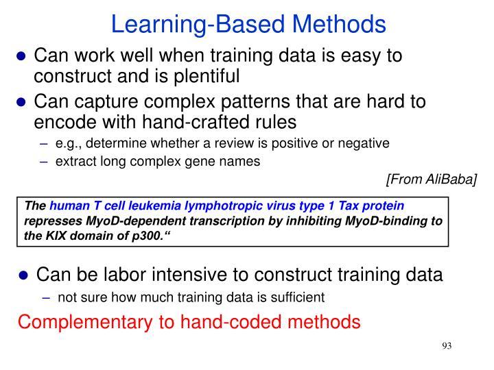 Learning-Based Methods