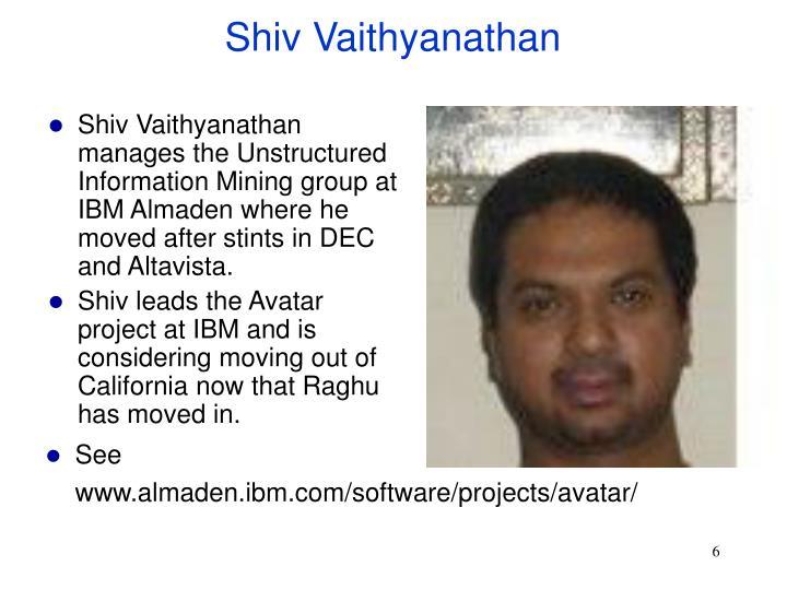 Shiv Vaithyanathan