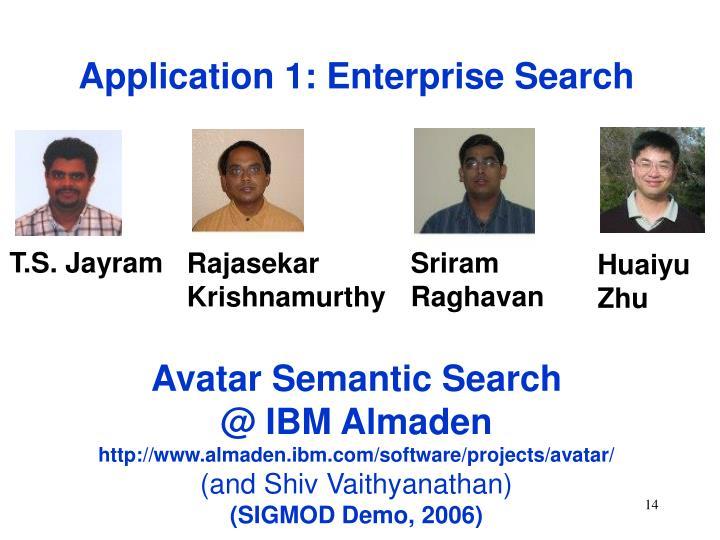 Application 1: Enterprise Search
