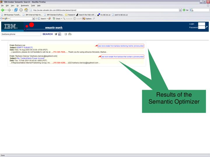 Results of the Semantic Optimizer