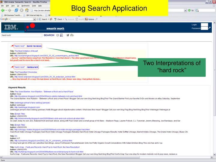 Blog Search Application