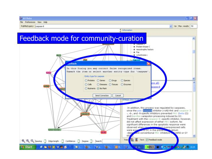 Feedback mode for community-curation