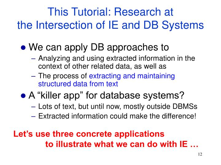 This Tutorial: Research at