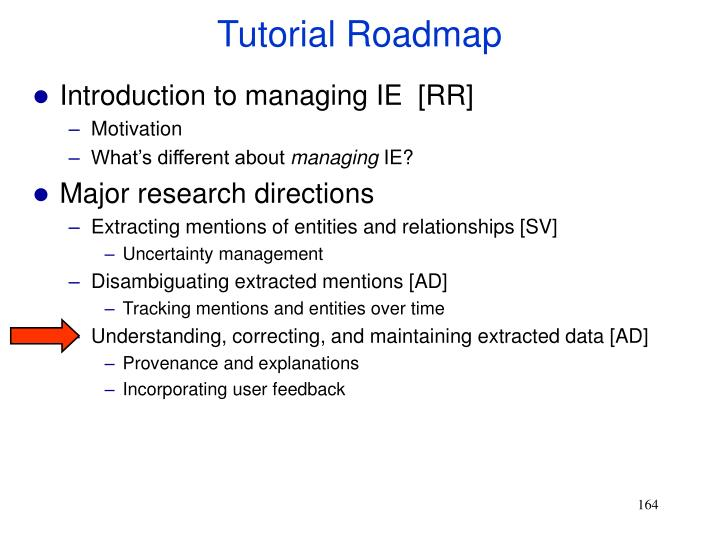 Tutorial Roadmap