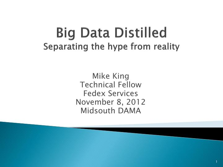 Big data distilled separating the hype from reality