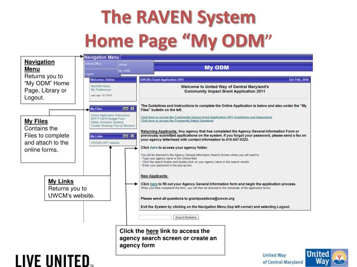 The RAVEN System