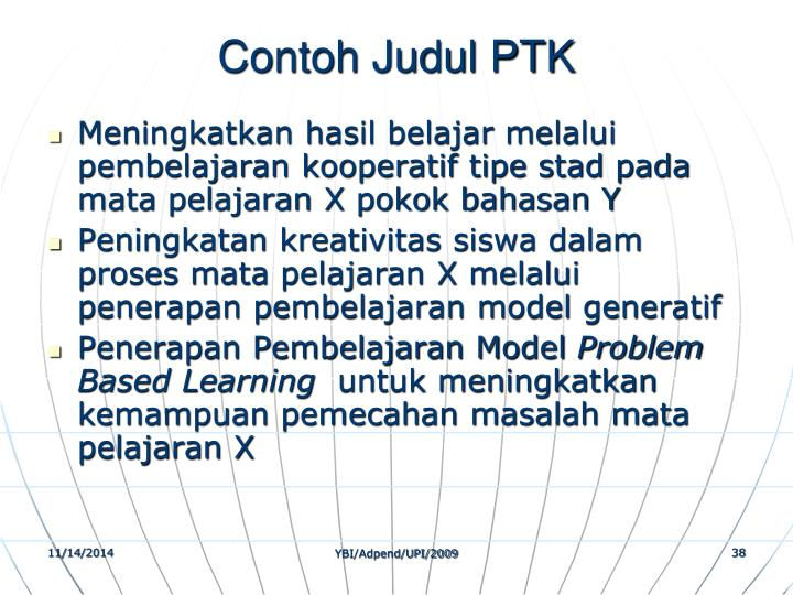 Contoh Judul PTK