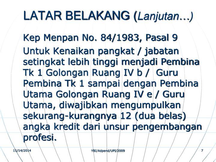 LATAR BELAKANG (
