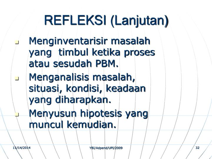 REFLEKSI (Lanjutan)