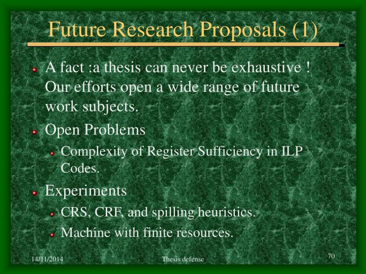 Future Research Proposals (1)