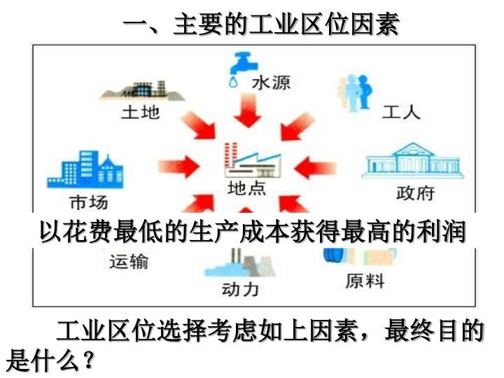 一、主要的工业区位因素
